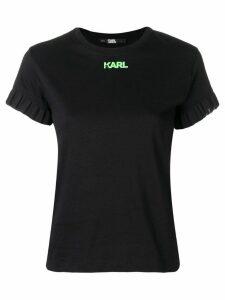 Karl Lagerfeld Neon Lights frill T-shirt - Black
