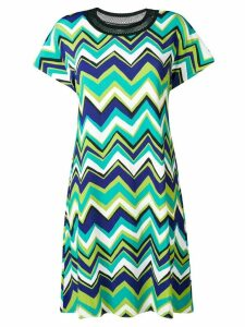 M Missoni green patterned T-shirt dress