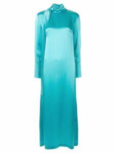 Taller Marmo turtleneck long dress - Blue