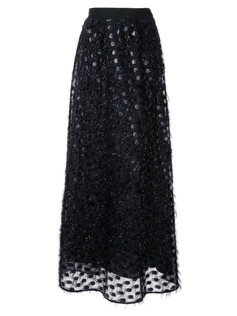 Taller Marmo polka dot hairy skirt - Blue