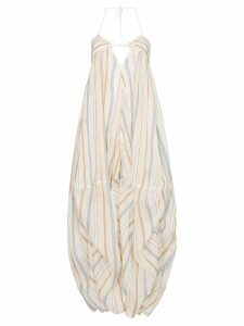 Jacquemus striped oversized dress - Neutrals