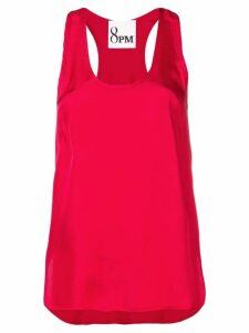 8pm racer back tank top - Red