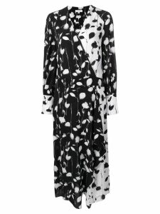 Equipment two tone floral dress - Black