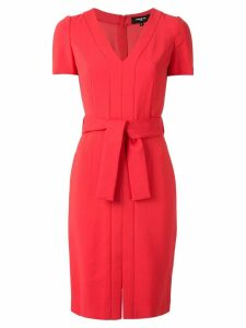 Paule Ka waist-tied fitted dress - Red