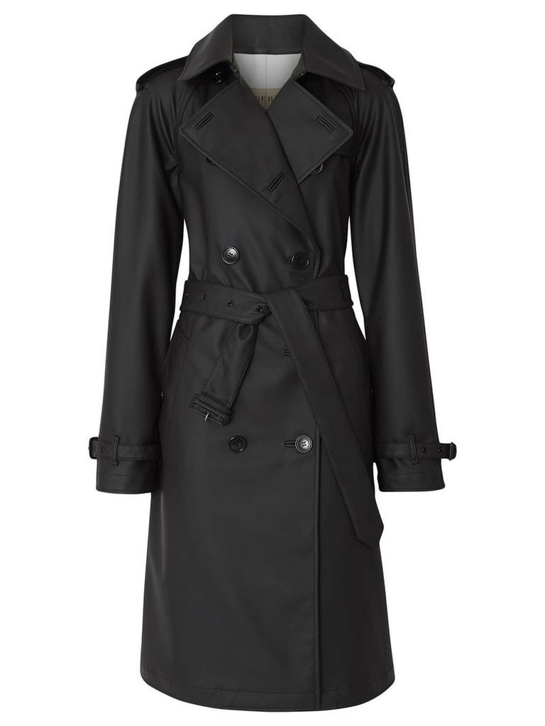 Burberry Logo Detail Showerproof Trench Coat - Black
