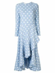 Oscar de la Renta polka dot dress - Blue