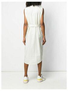 Calvin Klein stripe shirt dress - White