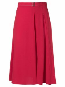 Marni pleated A-line skirt - Red