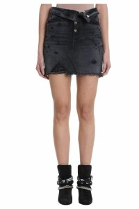 AMIRI Black Denim Skirt