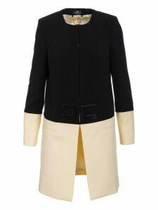 Elisabetta Franchi Bicolored Coat