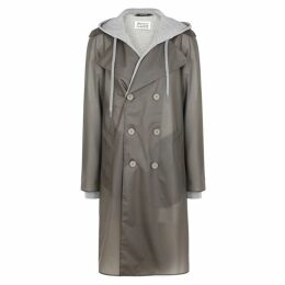 Maison Margiela Grey Rubberised Trench Coat