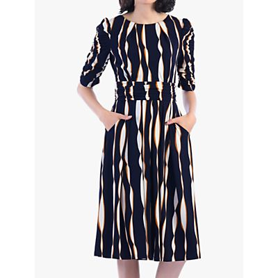 Jolie Moi Abstract Print Dress, Navy/Multi