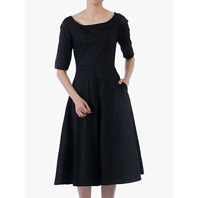 Jolie Moi Scoop Neck Swing Dress, Black