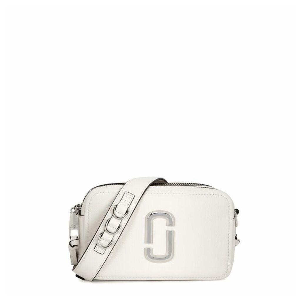 Marc Jacobs Softshot 21 White Leather Shoulder Bag