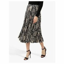 Jaeger Snakeskin Pleated Midi Skirt, Multi