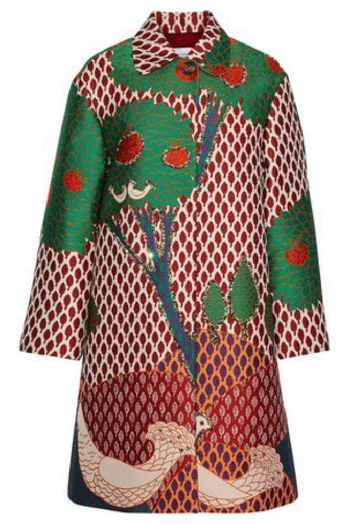Redvalentino Woman Glittered Jacquard Jacket Multicolor Size 40