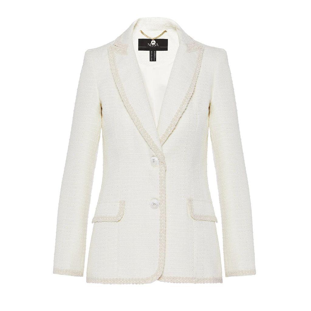 WtR - Tamara Black Embellished Draped Blazer