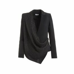 WtR - Tamara Black Embellished Draped Blazer
