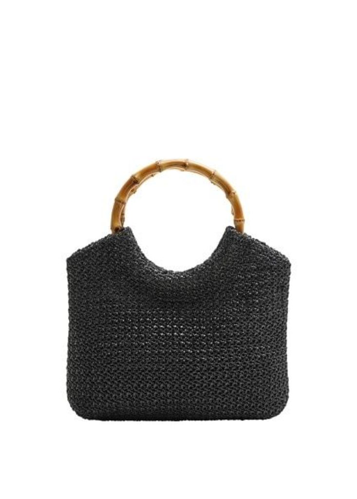 Braided bucket bag