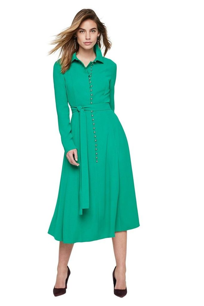 Womens Damsel In A Dress Lanie Military Dress -  Green