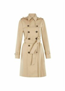 Hooded Saffie Trench Coat Neutral 18
