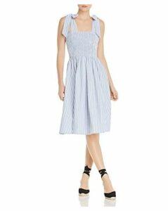 Aqua Sleeveless Striped Smocked Midi Dress - 100% Exclusive