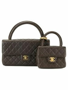 Chanel Pre-Owned Classic Flap bag with Micro bag - Brown