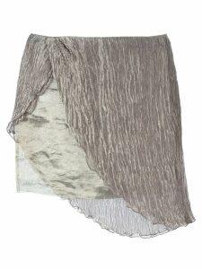 Romeo Gigli Pre-Owned asymmetric mini skirt - Grey