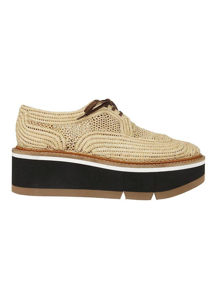 Robert Clergerie Perforated Flatform Sneakers