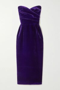 RIXO - Tonya Printed Crepe Midi Dress - Blue