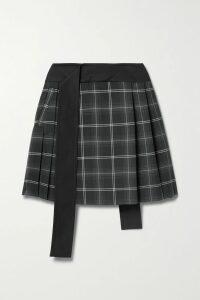 Valentino - Floral-print Silk Crepe De Chine Wrap Skirt - Black