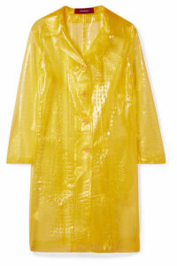 Sies Marjan - Mie Croc-effect Vinyl Coat - Yellow
