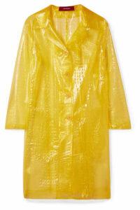 Sies Marjan - Mie Croc-effect Vinyl Coat - Yellow
