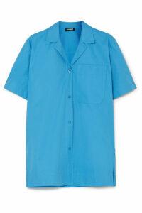 Kwaidan Editions - Coated Cotton-poplin Shirt - Blue