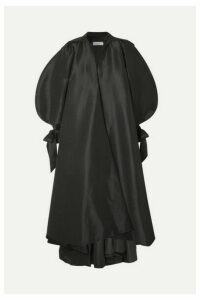 Richard Quinn - Bow-detailed Taffeta Coat - Black