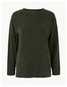 M&S Collection Textured Regular Fit Sweatshirt