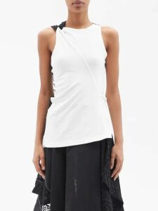 Loewe - Asymmetric Pleated Gingham Handkerchief Skirt - Womens - Multi