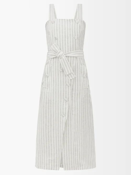 Saint Laurent - Star Yoke Cotton Chambray Shirt - Womens - Denim