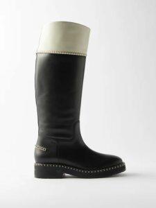 Ganni - Hemlock Printed Silk Blend Chiffon Midi Dress - Womens - Multi