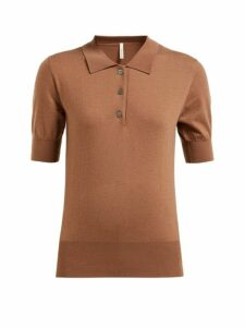 Extreme Cashmere - No. 93 Cashmere Blend Polo Sweater - Womens - Tan