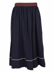 Marni Contrast Piping Midi Skirt