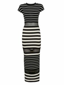 Off-white Striped Dress