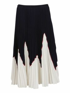RED Valentino Color-block Pleated Skirt
