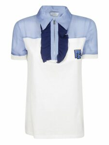 Prada Ruffled Polo Shirt