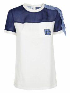 Prada Ruffled Shoulder T-shirt
