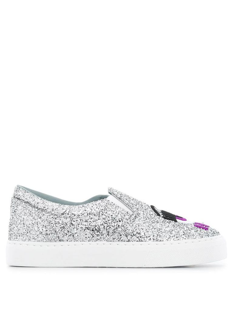 Chiara Ferragni I see you slip-on sneakers - Silver