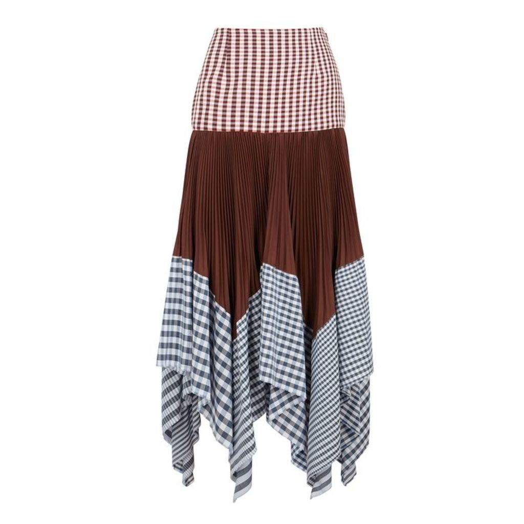 Loewe Checked Panelled Skirt