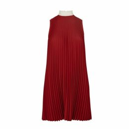 RED Valentino Red Pleated Dress