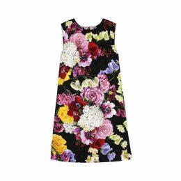 Dolce & Gabbana Floral-print Jacquard Mini Shift Dress