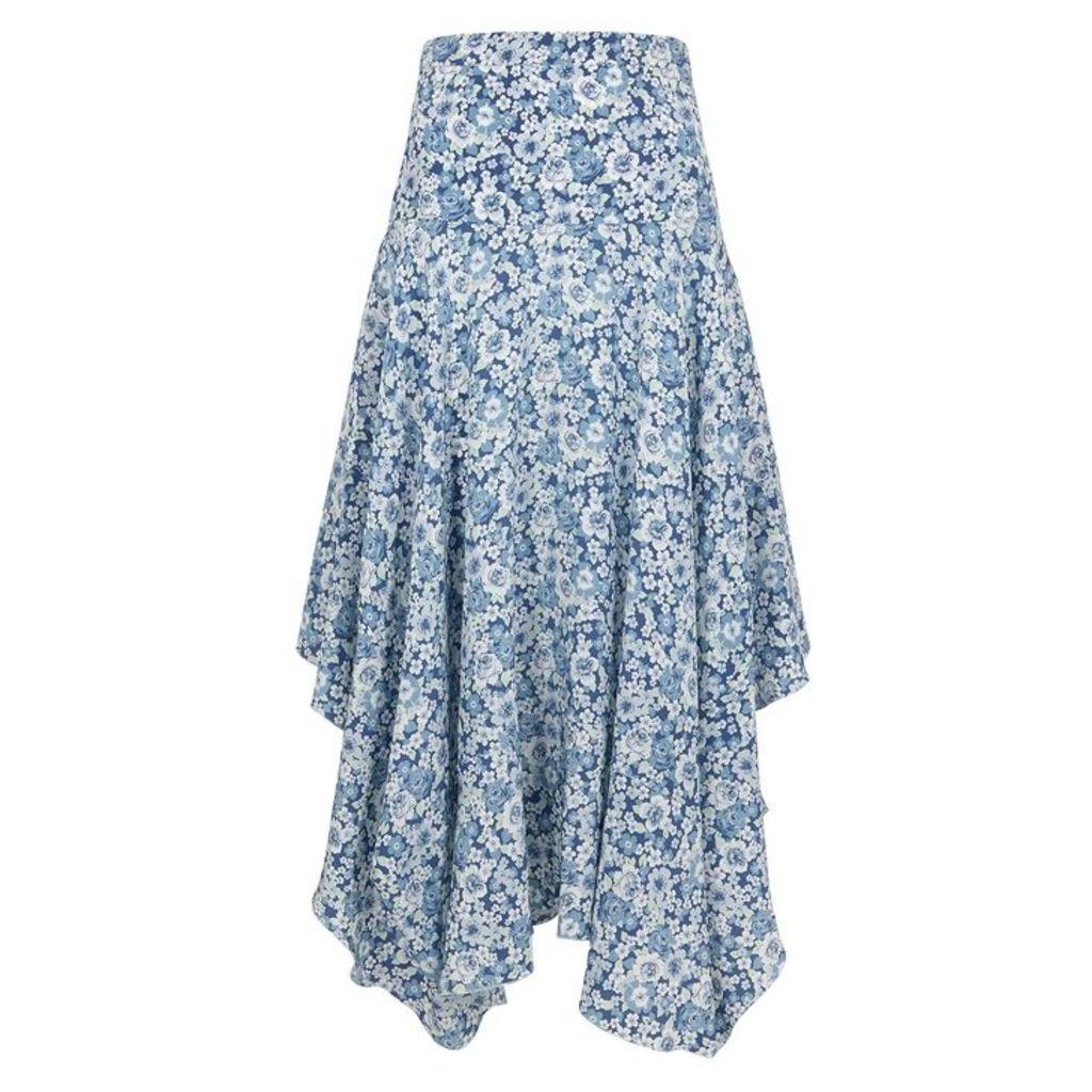 Stella McCartney Floral-print Silk Midi Skirt